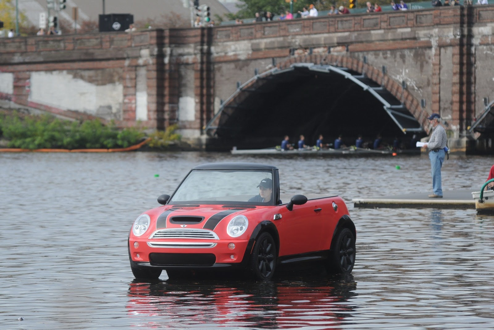 Mini Cooper S In Fibergl Then Married With A Boat Hull And 6hp Outboard Motor For Good Measure Have Look At The Full Gallery After Jump