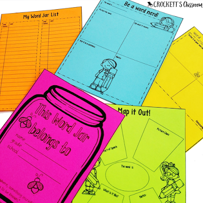 Word Jar Journal.  A place for students to collect words throughout the year.  It turns into a great reference source they'll use all year!
