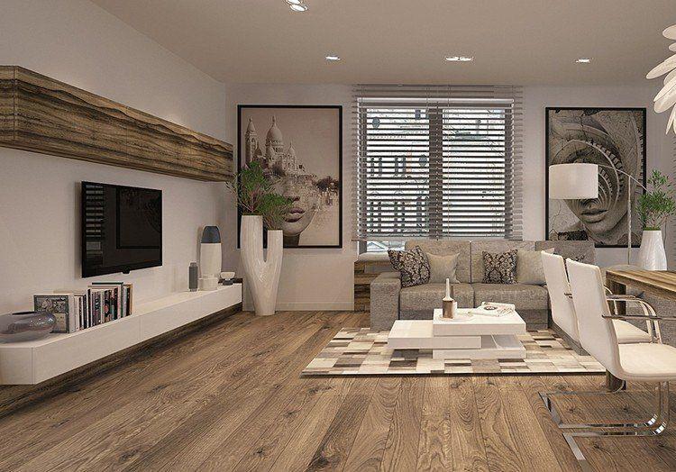Salas con tv en la pared salas con estilo for Sala tv moderna