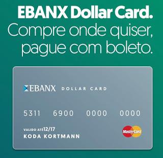 Cartão Ebanx Dollar Card Mastercard