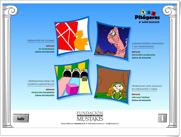 """JUEGOS DE FIN DE CURSO: """"Pitágoras 6"""" (Juegos de Geometría de 6º de Primaria)"""