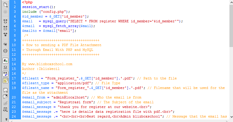 How to Sending a PDF File Attachment Through Email With PHP and MySQL