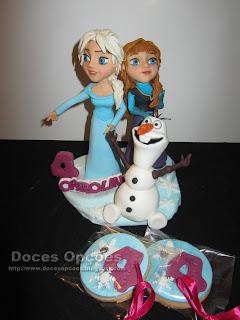 topo bolo Disney Frozen bolachas