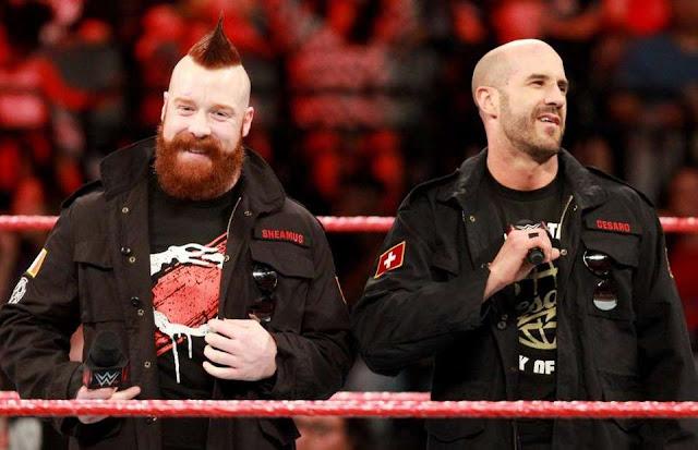 Sheamus and Cesaro vs Braun Strowman and Elias for RAW tag team Championship