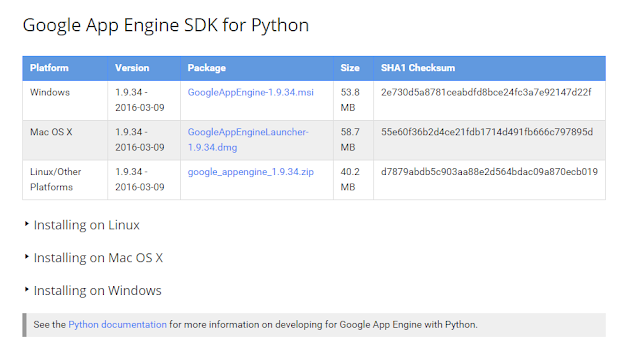 Google App Engine SDK for Python