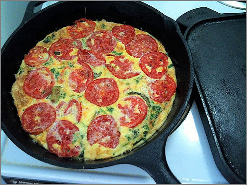 Healthy Egg White-Veggie Omelet ~ Becky Cooks Lightly