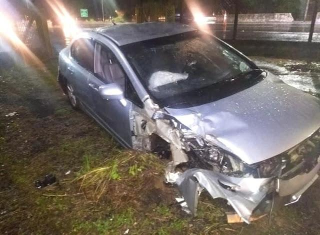 Motorista embriagado é preso após se envolver em acidente em rodovia de Marília