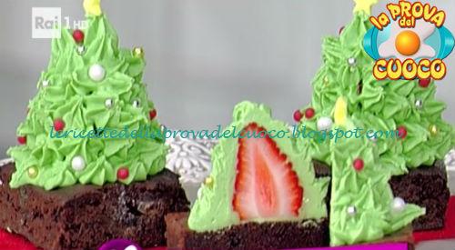 Ricetta degli Alberelli di fragola e cioccolato da La Prova del Cuoco