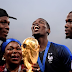 The moment Paul Pogba and his mother posed with the world cup trophy
