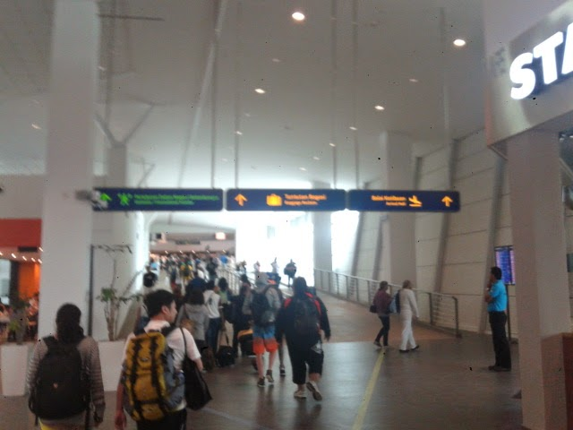 Arriving at KLIA2