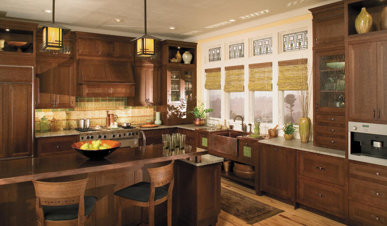 Mission Style Kitchen In An Older Home