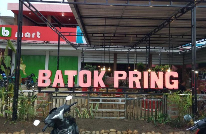 Hadir di Pusat Kota, Batok Pring Menjadi Tempat Wisata Kuliner Paling Favorit di Pringsewu