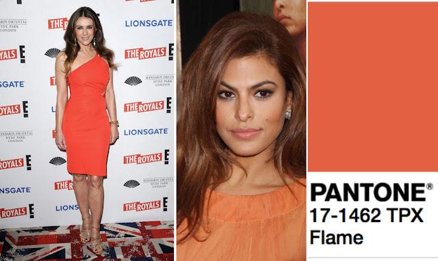 Цвет Pantone 2017 года Flame на шатенке и брюнетке