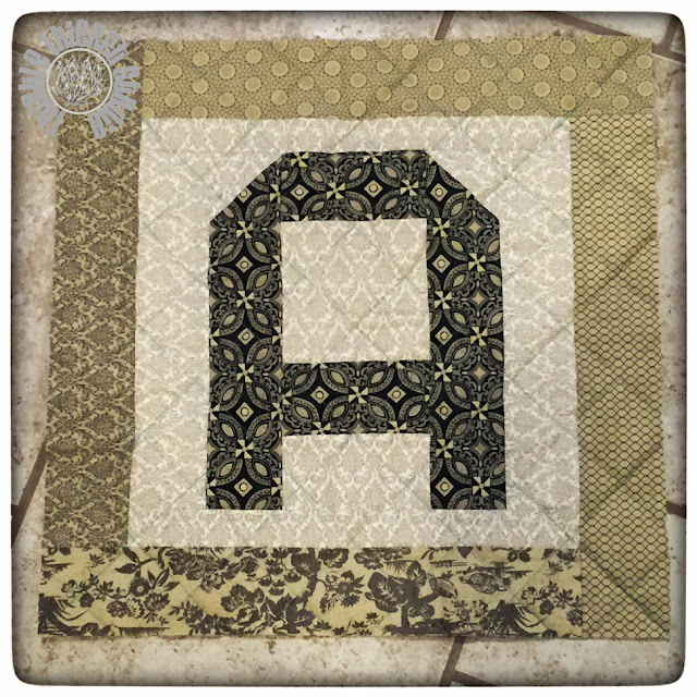 Spell It With Moda Fabric! Monogram Pillow Tutorial by Thistle Thicket. www.thistlethicketstudio.com