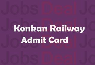 Konkan Railway JE Admit Card 2017