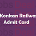 Konkan Railway JE Admit Card 2017 KRCL Junior Engineer Exam Date