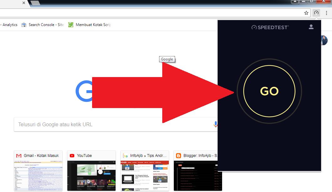 Cara Pasang Speedtest by Ookla di Browser Google Chrome
