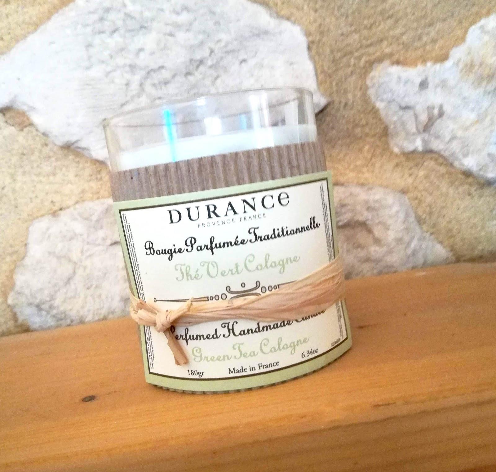 Tea Time avec Durance  découverte de la bougie et du bouquet parfumé Thé Vert & Cologne