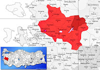 Demirci ilçesinin nerede olduğunu gösteren harita