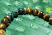 Seite: AmorWing Tigerauge und Ruby Zoisit Gebetsarmband für Damen/ Herren