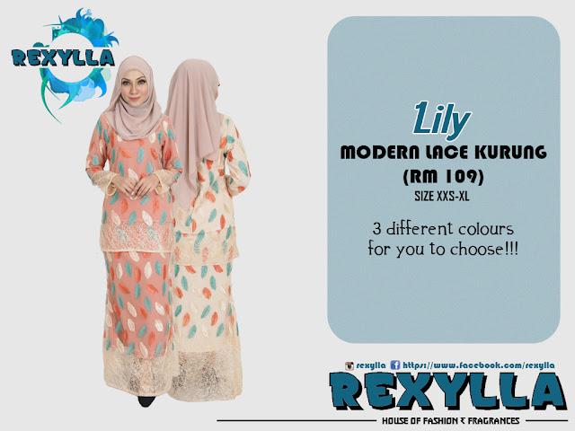 rexylla, baju kurung, lace kurung, modern kurung, modern lace kurung