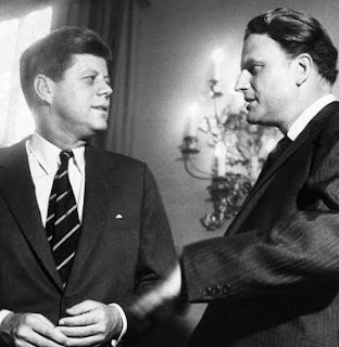 Billy Graham with President John F Kennady