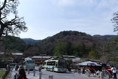 Bus Stops at Arashiyama Kyoto