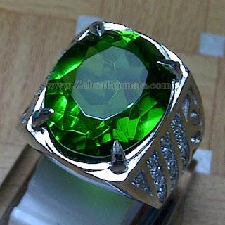 Cincin Batu Permata Green Tektite - ZP 820