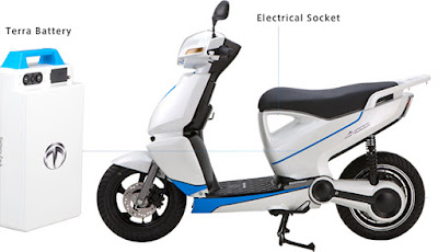 Terra A4000i Electric Scooter with battery