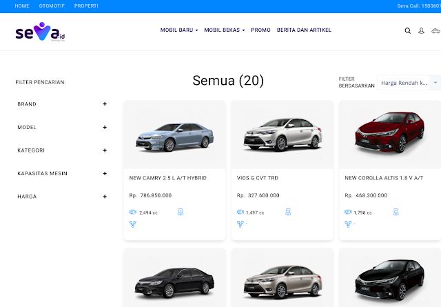 seva id layanan online otomotif hingga properti