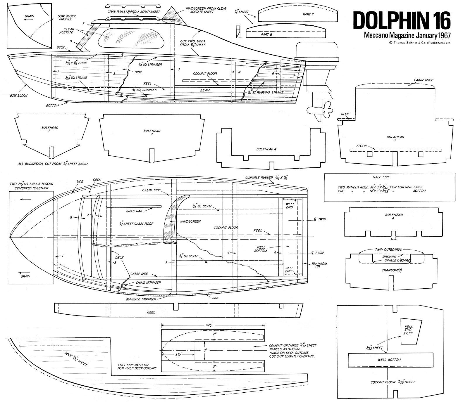 Quinze marins sur le bahut du mort plans de vedette for Plans de construction