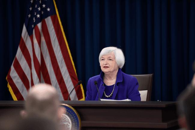 Dollar mereda setelah pidato Janet Yellen