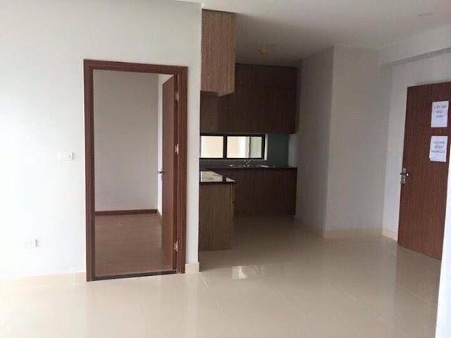 Thiết kế phòng bếp Ecohome Phúc Lợi (hình ảnh thực tế căn hộ mẫu)