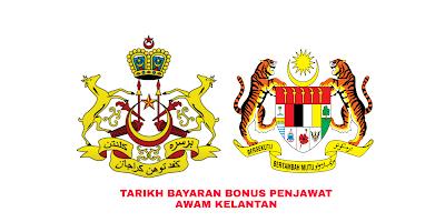 Tarikh Bayaran Bonus Penjawat Awam Kelantan 2019