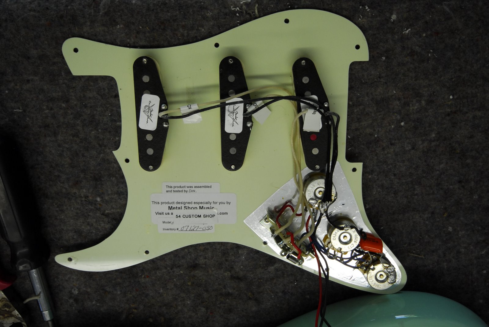 Custom Stratocaster Pickup Upgrade Guitar Wiring Noise At That Time I Had Purchased A Fully Loaded Pickguard With Fender 69 Shop Pickups But Truthfully The Sound Never Really Worked
