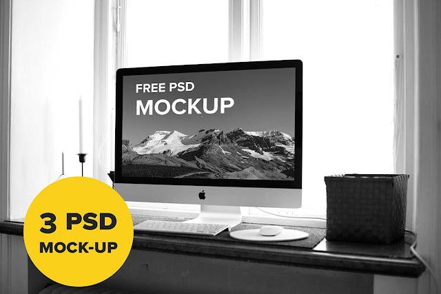 Macbook & iMac PSD Mockup