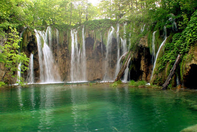 Plitvice Lakes waterfall, Croatia