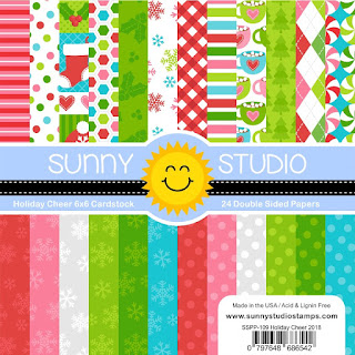 Sunny Studio Stamps: Holiday Cheer 6x6 Double Sided Christmas & Winter Themed Patterned Paper Pack