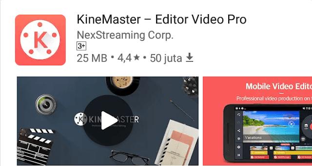 Kinemaster, salah satu aplikasi edit video terbaik untuk Android