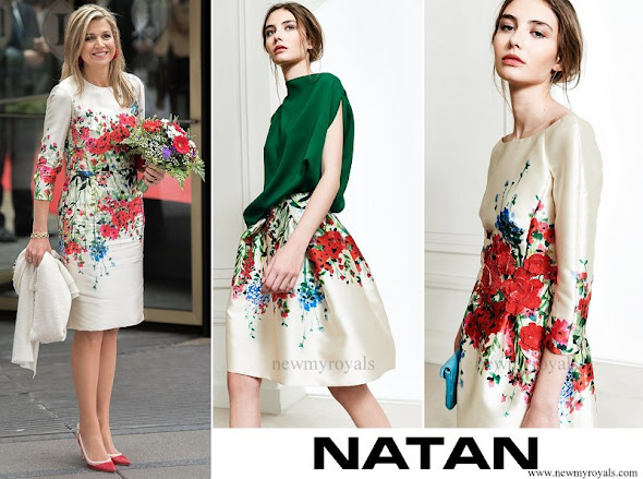 Queen Maxima wore Natan Floral Print Dress