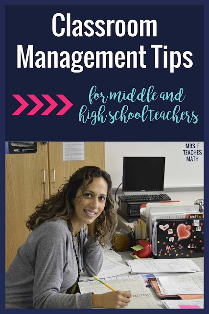 Do you teach middle or high school?  Check out these classroom management tips and strategies to help curb problem behaviors.  These ideas have helped me so much!