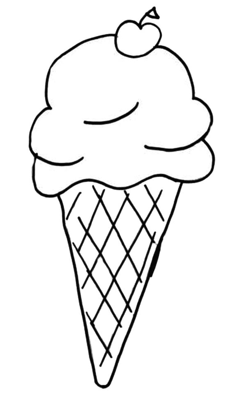 Gambar Mewarnai Ice Cream 3