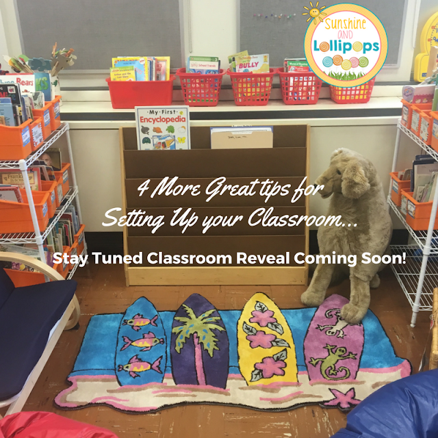 Setting up your classroom, especially if you have moved to a new location can be a bit hectic, but never fear...Sunshine and Lollipops is here to save you some unwanted or unnecessary stress with a few tips and a REVEAL soon..I KNOW you are already doing Tip #7!