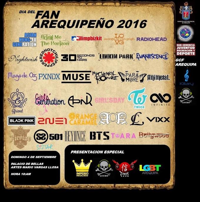 Día del Fan Arequipeño 2016 - 04 de setiembre