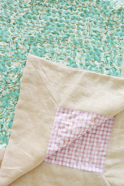Make a hand-quilted baby blanket