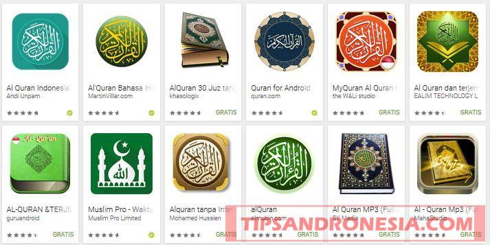 Aplikasi Al Qur'an dan Terjemahan di HP Android