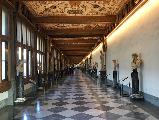 la galerie des offices ou Uffizi Gallery, Florence, Italie