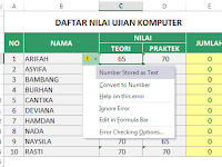 5 Cara Memperbaiki Number Stored as Text di Excel