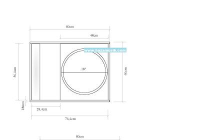 bentuk kotak speaker 18inch mini scoop watt  besar terbaru