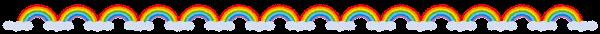 天気のライン素材(虹)